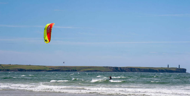 Medium Tramore Beach Kitesurfing