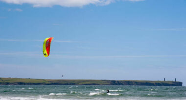 Medium Tramore Beach Kitesurfing
