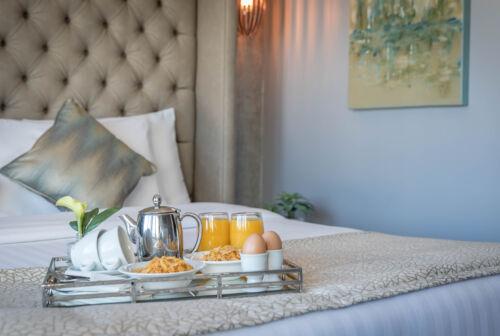 Penthouse Bedroom Breakfast